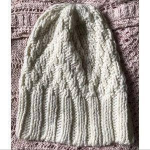 Ivory Knit Winter Hat Beanie